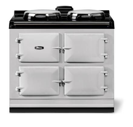 Aga Atc3pas 40 Total Control Series Pearl Ashes Slide In Electric Range With Smoothtop