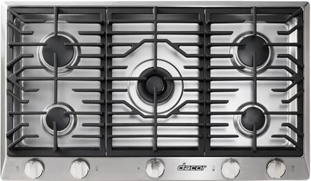 "Dacor DCT365WH 36"" Distinctive Series Gas Cooktop With 5 Sealed Burners, SimmerSear Burners, Continuous Platform Grates, Illumina Indicator Lights, High Altitude and Smart Flame Technology: White"
