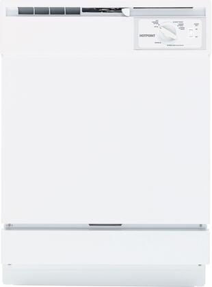 "Hotpoint HDA2100VWW 24"" 2100 Series Built In Full Console Dishwasher"