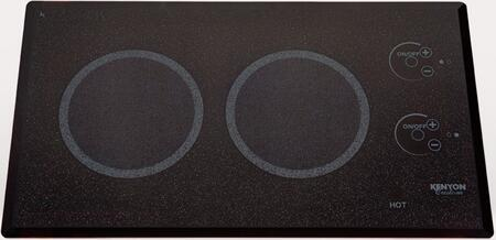 "Kenyon B41576L 24"" Lite-Touch Q Series 2 Element Electric Cooktop, in Black"