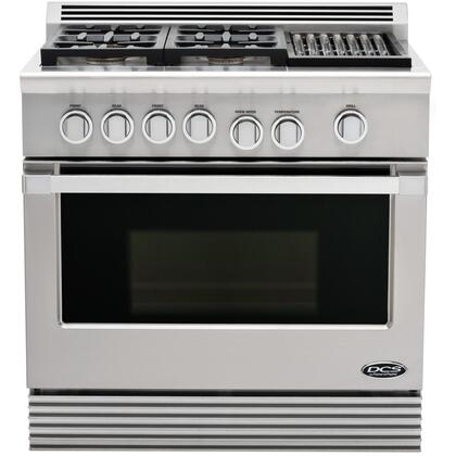 "DCS RDU364GLL Liquid Propane Sealed Burner 36""4 Yes Freestanding Range 