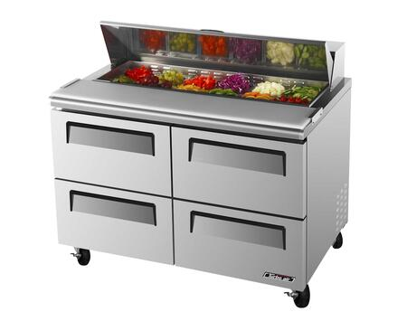 Turbo Air TSTD4 Sandwich and Salad Unit with 4 Drawers, Cold Air Compartment, Convenient Cutting Board Side Rail, Hot Gas Condensate System and Stainless Steel Cabinet Construction