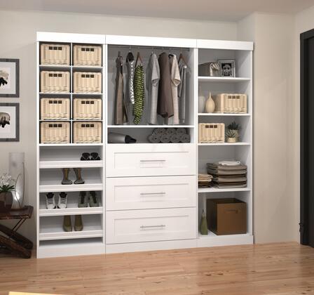 "Bestar Furniture 26853 Pur by Bestar 86"" Classic kit"
