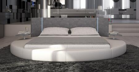 VIG Furniture VGINROTONDO Modrest Rotondo - Modern Eco-Leather Bed with LED Lights