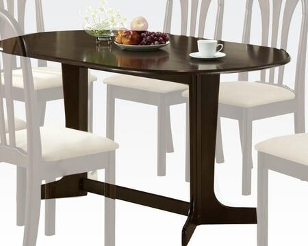 "Acme Furniture Stockholm Collection 59"" Rectangular Dining Table with Waterfall Top, Double Leg Fix, Trestle Pedestal Base and Okume Veneer Materials in"