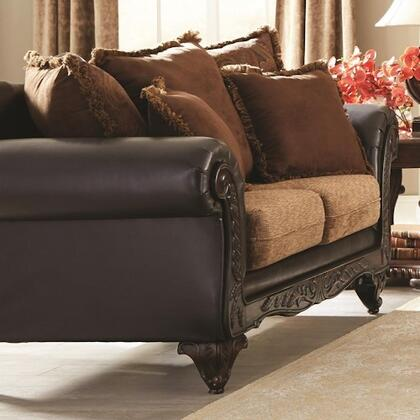 Coaster 505232 Garroway Series Fabric Stationary with Wood Frame Loveseat