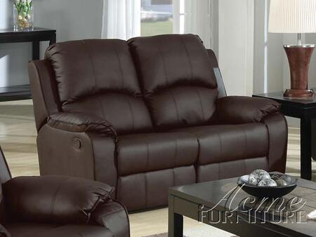 Acme Furniture 15211 Caray Series Bonded Leather Recliner with Wood Frame Loveseat