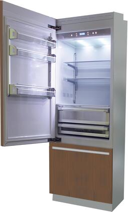 "Fhiaba B 24"" Brilliance Series Built In Bottom Freezer Refrigerator with TriMode, TotalNoFrost, 3 Evenlift Shelves, Door Storage and LED Lighting:"