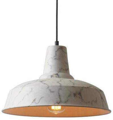 "EdgeMod Stelling Collection 14"" x 8.75"" Pendant Lamp with Black Cord, Fully Dimmable, LED Light Compatible and Iron Construction in"