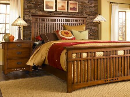 Broyhill ARTISANRIDGEBEDQ Artisan Ridge Series  Queen Size Panel Bed