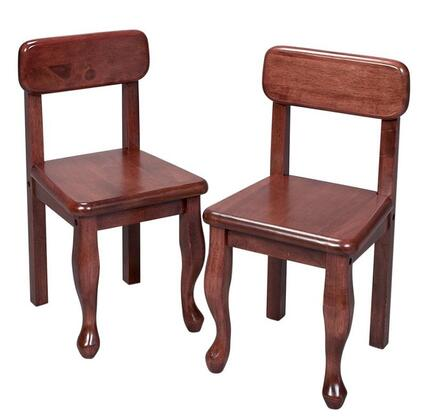 Gift Mark 3003 X Pair Of Queen Anne Classic Design Solid Wood Chairs in
