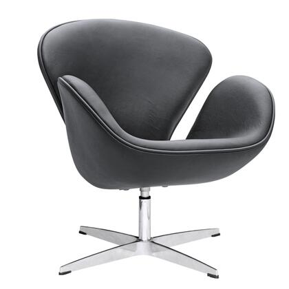 Fine Mod Imports FMI1144 Swan Leather Chair: