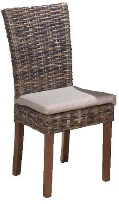 Jofran 733401KD Urban Lodge Series Contemporary Fabric Wood Frame Dining Room Chair