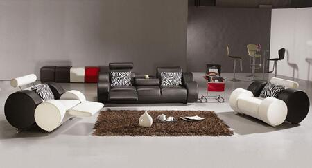VIG Furniture VGEV30881 Modern Leather Match Living Room Set