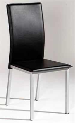 Chintaly VALERIESC Valerie Series Modern Leather Metal Frame Dining Room Chair
