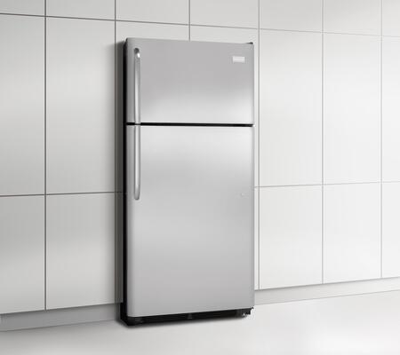 Frigidaire FFHT1826PS Freestanding Top Freezer Refrigerator with 18.3 cu. ft. Total Capacity 2 Glass Shelves 4.1 cu. ft. Freezer Capacity |Appliances Connection