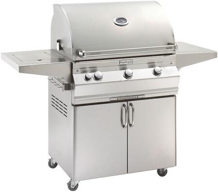 """FireMagic A660S5EAX62 Aurora 63"""" Cart with 30"""" Grill, E-Burners, Side Burner, Side Shelf, Analog Thermometer, and Up to 75000 BTUs Heat Output, in Stainless Steel"""