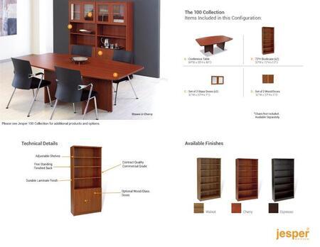 Unique Furniture 1C100021CXX Conference Table & Bookcases