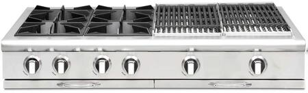 """Capital CGRT484BBN 48"""" Culinarian Series Gas Open Burner Style Cooktop"""