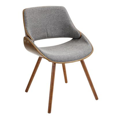 "LumiSource Fabrizzi CH-FBZZ WL 22"" Chair with Fabric Upholstery, Solid Wood Legs and Open Design Backrest in"