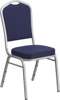 hercules series crown back stacking banquet chair with navy fabric and 2 5 thick seat silver frame fd c01 s 2 gg 2