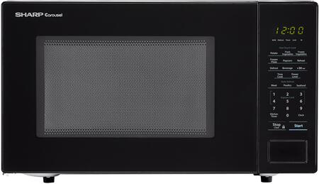 "Sharp SMC1131C Countertop Microwave with 1.1 cu. ft. Capacity, 1000 Watts, 11.25"" turntable, Bezel-less Design, in"