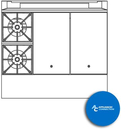 """Southbend P36BHH Platinum Series 36"""" Combination Top with Two Open Top Burners and Two Hot Top, Up to 134000 BTUs (NG/LP)"""
