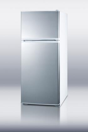 Summit FF882WSS Freestanding Top Freezer Refrigerator with 8.86 cu. ft. Total Capacity 3 Wire Shelves