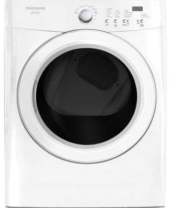 """Frigidaire FASG7021NW 27"""" Gas Affinity Series Gas Dryer with 7 cu. ft. Capacity  5 Temperature Settings Steam Cycle