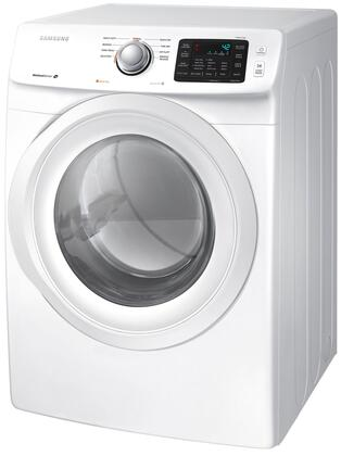 Samsung DV42H5000 7.5 cu. ft. Dryer with Sensor Dry, Smart Care, 9 Preset Drying Cycles, Dryer Drum Light, 4 Temperature Settings and Reversible See-Through Door: White