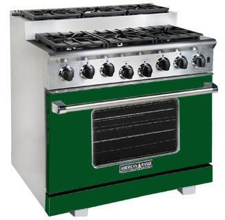 American Range ARR366SFG Titan Series Gas Freestanding Range with Sealed Burner Cooktop, 5.6 cu. ft. Primary Oven Capacity, in Green