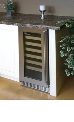 "Perlick HP15WO3LDNU 14.875"" Freestanding Wine Cooler, in Stainless Steel"