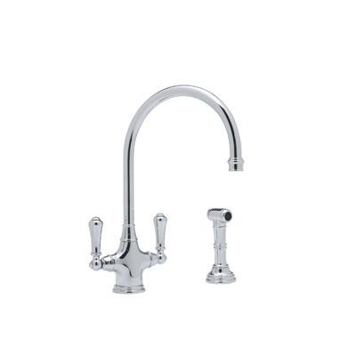 Rohl U.4710--2 Perrin and Rowe Collection Cast Spout Single Hole Kitchen Mixer With Sidespray, California AB 1953 and Vermont S152 Compliant: