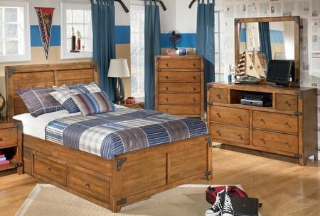Milo Italia BR528SFPBDM Stuart Full Bedroom Sets