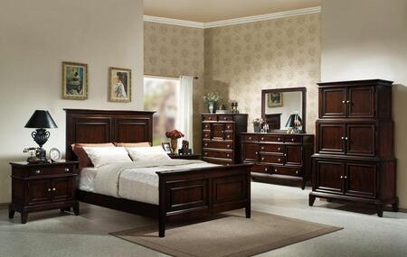 Accent HC875535BED4SET Lancaster California King Bedroom Set