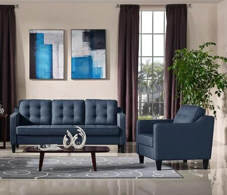 Diamond Sofa LUCASSCHBU Lucas Living Room Sets