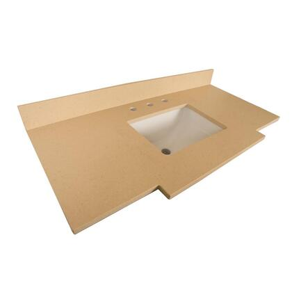 "Bellaterra Home 7614TOP 45"" Quartz Counter Top with Rectanglar Sink"