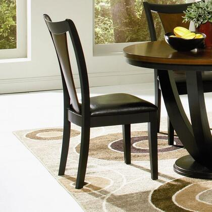 Coaster 102092 Boyer Series Contemporary Vynil Wood Frame Dining Room Chair