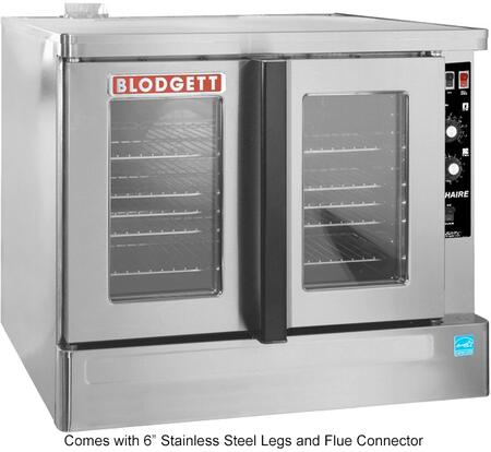 """Blodgett Zephaire-100-G-ES 39"""" Zephaire Series Energy Star Standard Depth Gas Convection Oven with Rigid Insulation, Porcelain Liner, Dependent and Heavy Duty Doors:"""