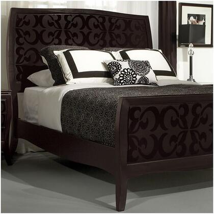 Zocalo BELNZC262 Belle Noir Series  Queen Size Panel Bed
