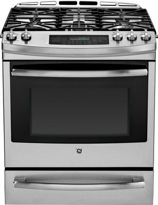 "GE Profile P2S920SEFSS 30"" Profile Series Slide-in Dual Fuel Range with 5.9 cu. ft. Primary Oven Capacity, in Stainless Steel"