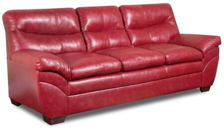 Simmons Upholstery Soho 951503SOHO Sofa with Split Back Cushion, Bonded Leather, Stitched Detailing and Block Feet.
