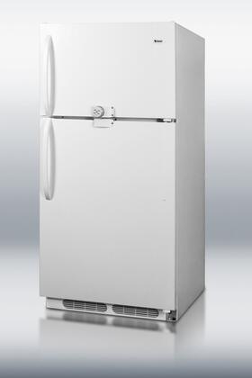 "Summit CTR15LLF228"" Freestanding Top Freezer Refrigerator with 14.8 cu. ft. Total Capacity 2 Wire Shelves with Door Lock"