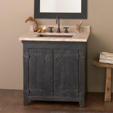 "Native Trails VNB30 30"" Americana Vanity with Handcrafted Design, Recycled Wood, Large Storage Compartment and Finished in"