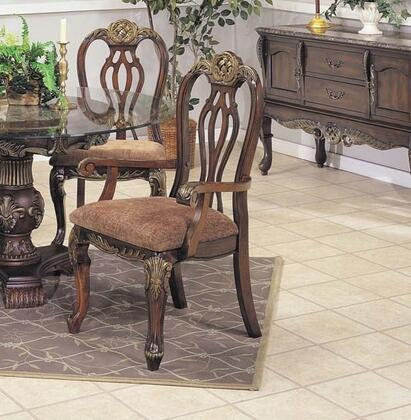Acme Furniture 07642 Bordeaux Series Traditional Microfiber Wood Frame Dining Room Chair