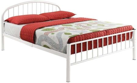 Acme Furniture Cailyn Collection Full Size Bed with Curved Headboard, Low Profile Rectangular Footboard, Slat System Included, Metal Frame, Side Rails and Slats Included in