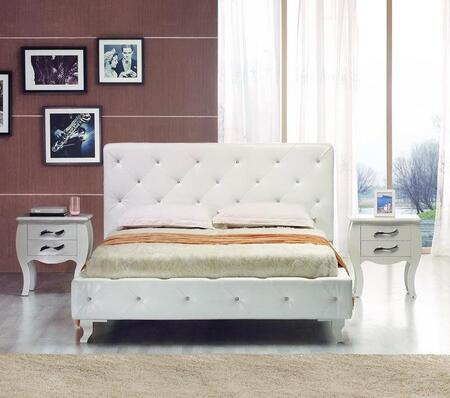 VIG Furniture VGJYMONTECARLOWHTCQN Modrest Monte Carlo Queen
