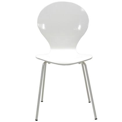Modway EEI574WHI Insect Series Modern Not Upholstered Metal Frame Dining Room Chair