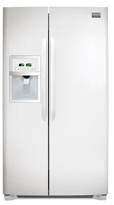 Frigidaire FGHS2332LP Gallery Series Side by Side Refrigerator with 22.60 cu. ft. Capacity in White
