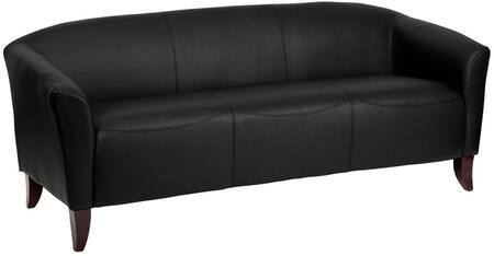 "Flash Furniture 1113BKGG HERCULES Imperial Series 30"" Leather Sofa for Office or Home Office Seating, 1.8 High Density Foam, Sturdy Hardwood Construction, LeatherSoft is leather and polyurethane for added Softness and Durability"